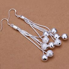 925 Sterling Silver Drop Dangle Chandelier Hook Earrings L17