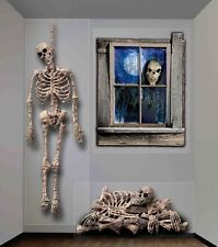 Halloween 20 Square Foot Indoor/Outdoor Skeleton Themed Wall Decoration
