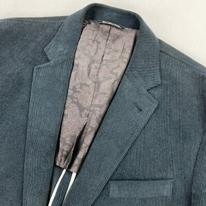 Bullock & Jones Men's Corduroy 2-Button Panama Blazer Blue • 46 R