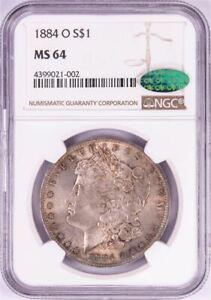 1884-O MORGAN SILVER DOLLAR $1  MS-64 - NGC 4399021-002 - NICE TONING