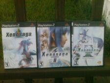 Xenosaga Trilogy: Episode I, II, III 1 2 3  PS2 - complete clean