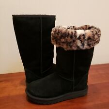 UGG Australia Women's Classic Tall ANIMAL New size 8 Black