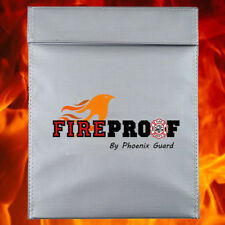 X-LARGE Fire proof pouch Document Money safe bag Fire Water Resistant 15' x 11''