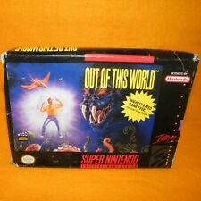 Vintage 1992 SUPER NINTENDO ENTERTAINMENT SYSTEM SNES out of this World Game