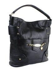 Juicy Couture ID Bracelet Black Leather Shoulder HOBO Bag BNWT