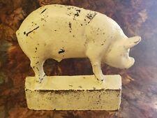 Vintage / Antique Cast Iron Pig Door Stop