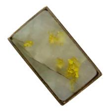 Antique Victorian 10K 22K Gold Vein in Quartz Stick Pin (RL1801BB)
