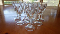Cordial Glasses in Flamenco pattern by Cristal D'Arques-Durand 8 2oz stems