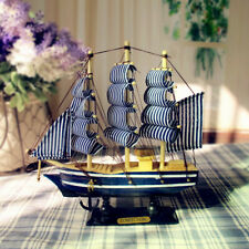Mediterranean 20cm Wooden Sailing Gift Crafts Decoration Nautical Home Boat