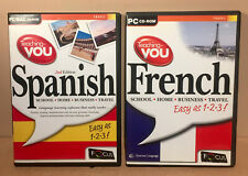 Teaching-You Spanish & Teaching You French Bundle (PC CD-ROM, 2001) VGC