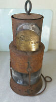 RARE ANTIQUE 19TH C SHIPS SIGNAL LANTERN / LAMP- MILLERS ROYAL LETTERS PATENT