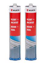 Genuine Wurth Bond & Seal Black Adhesive Sealant Metal Plastic Liner Repair Twin