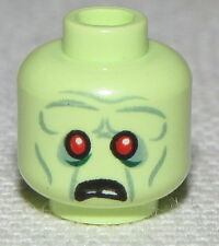 LEGO NEW MINIFIGURE HEADS WITH RED EYES AND FROWN FACE AND WRINKLES