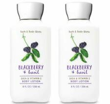 Bath and Body Works Blackberry and Basil Body Lotion 8 Ounce Each Set of 2