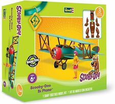 """Revell Snaptite Snap-Together """" Scooby-Doo Bi Plane """" With 3 Figures 85-1770"""