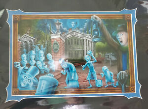 The Haunted Mansion Deluxe Matted Print By Craig Fraser HItchhiking Ghost Leota