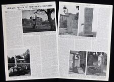 VILLAGE PUMP WATER WELL ENGLAND BAMBURGH BISHOP BURTON ETC PHOTO ARTICLE 1960