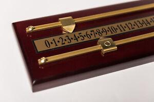 2 player  Snooker scoreboard , mahogany effect , brass scorers  2  wall fixings