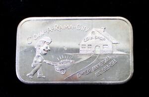 Coin-A-Rama-City Hawthorne California 10th Anniversary 1 Oz .999 Silver Bar MLM