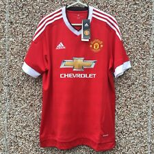 MANCHESTER UNITED Home Football Shirt ADIDAS 2015 2016 Large Adult New Official