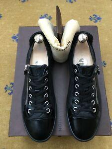 Louis Vuitton Mens Shoes Black Leather Suede Trainer Sneaker UK 6 US 7 40 Damier