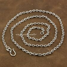 """3mm Square link Chain 925 Sterling Silver Pendant Matching Necklace 8L010A 22"""""""