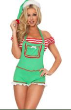 Women Elf Costume Sexy Christmas Size UK 8-10