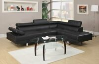 Leather Sectional Sofa Chaise Couch Set Modern Soft Living Room Furniture