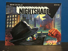 How to Play Nightshade Instruction Booklet ONLY for Nintendo NES