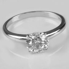 1.60 Carat 14Kt Solid White Gold Round Shape Solitaire Lovely Wedding Ring
