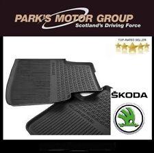 Genuine New Skoda Superb Estate 2016 Rear Rubber Floor Mats - 3V0061551