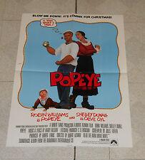 original POPEYE teaser movie poster Robin Williams Shelley Duvall