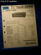 Sony Service Manual STR DE840 /DE940 FM/AM Receiver (#5286)