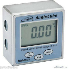iGAGING DIGITAL ANGLE CUBE ELECTRONIC LEVEL SENSOR BEVEL GAUGE TRIPLE MAGNETIC