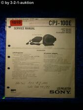 Sony Service Manual CPJ 100E LCD Projector  (#1010)