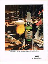 PUBLICITE  1978   KRONENBOURG  bière 1664   parfois il est bon de retrouver le g