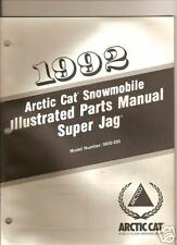 1992 ARCTIC CAT SUPER JAG  PARTS  MANUAL
