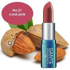 Sante Organic Lipstick No. 21 Coral Pink 5g Brand NEW