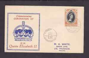 Nyasaland 1953 FDC 1st day cover England QE II Coronation H A White cachet