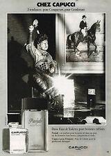 PUBLICITE ADVERTISING 114  1979  CAPUCCI  eau de toilette homme PUNJAB