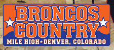 Broncos Country Mile High Denver Broncos Old School bumper sticker decal