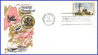 USA5 #1391 U/A COVER CRAFT FDC   Maine Statehood