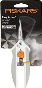 Fiskars Easy Action Micro-Tip Scissors, 16 centimetre Orange/White