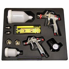 SPRAYIT SP-33500K LVLP Gravity Feed Paint Spray Gun Kit w/ 2 Spray Guns & Reg...