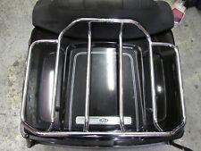 OEM Harley Tour Pak Pack Luggage Box 2009-2013 Vivid Black w/ Silver Pinstripes