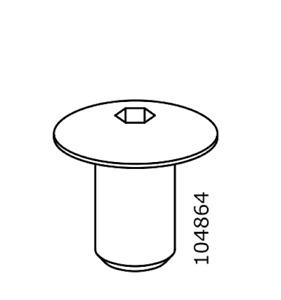 2x Ikea Nut Metric Sleeves P M8 Hex5 15mm Length Steel Part # 104864