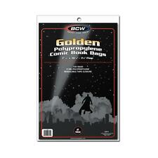 "1 Case of 1000 BCW Golden Age 7 5/8"" Comic Book Storage Poly Bags Sleeves"