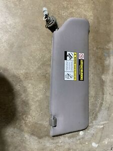 2007-2014 Honda Ridgeline Driver Left Sun Visor Sunvisor Gray 09 08 10 11 12 13