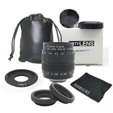 Fujian 35mm f/1.7 CCTV lens for Sony NEX E-mount camera & Adapter bundle + Bag