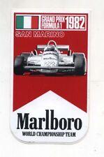 Adesivo SAN MARINO GRAND PRIX Imola 1982 Formula 1 MARLBORO TEAM F1 sticker